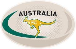 Wallaby de kangourou de l'Australie de bille de rugby illustration stock