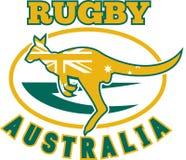Wallaby de kangourou de l'Australie de rugby illustration libre de droits