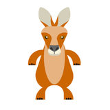 Wallaby. Illustration of wallaby on white background Stock Photos
