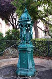 Wallace-Brunnen in Paris, Frankreich Stockbilder