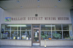Wallace District Mining Museum Wallace, Idaho arkivfoto
