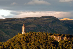 Wallace Monument. Scotland wallace monument in the landscape Stock Photos