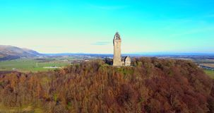 Wallace Monument stock video