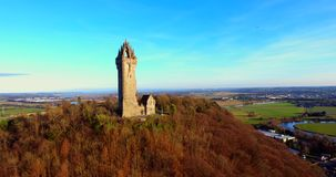 Wallace Monument stock video footage