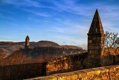 Wallace Monument da Stirling Bridge fotografia stock libera da diritti