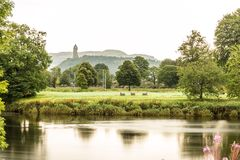 Wallace monument in Scotland royalty free stock images