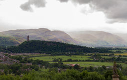 Wallace Monument in the Scottish landscape viewed from Stirling Royalty Free Stock Photos