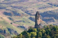 Wallace Monument, Stirling. The monument at Stirling to the great Scottish hero, William Wallace, who in 1297 won a battle near here Royalty Free Stock Photos