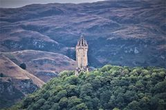Wallace Monument In Stirling image stock