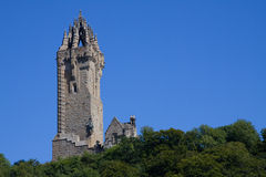 Wallace Monument, Stirling, Scotland. Situated atop Abbey Craig from where William Wallace led his people's army to victory at Stirling Bridge in 1297 Royalty Free Stock Image