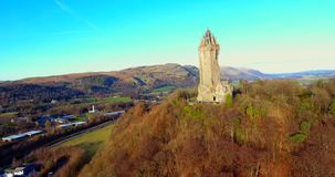 Wallace Monument stock footage