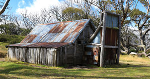 Wallace's Hut in Victoria, Australia. Old Mountain cattleman's hut in the high country Stock Photo