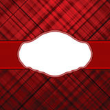 Wallace tartan red vintage card background. EPS 8 Stock Image