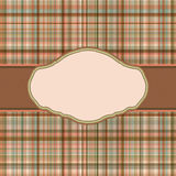 Wallace tartan vintage card background. EPS 8 Stock Image