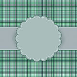 Wallace tartan vintage card background. EPS 8 Royalty Free Stock Photos