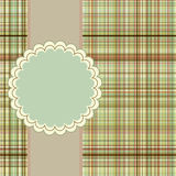Wallace tartan vintage card background. EPS 8 Stock Images