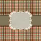 Wallace tartan vintage card background. EPS 8 Stock Photo