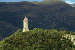 Wallace Tower. Monument for the scottish hero William Wallace stock photography