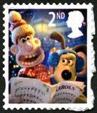 Wallace und BRITISCHE Briefmarke Gromit Lizenzfreies Stockfoto