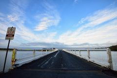 Wallaga jeziora most Fotografia Royalty Free