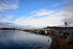Wallaga jeziora most Zdjęcie Royalty Free