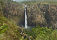 Wallaman下跌澳大利亚瀑布,昆士兰,澳大利亚 免版税库存照片