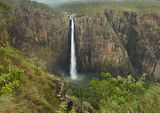 Wallaman Falls australian waterfall, Queensland, Australia Royalty Free Stock Photos