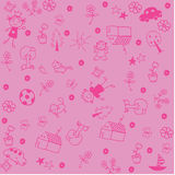 Wallapaper kids doodle art Royalty Free Stock Images