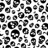 Wallaper av den svarta illustrationen av skallen På vitbakgrund Arkivbilder