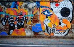 Wallart tła artysty obrazu hindusa ściana obrazy stock