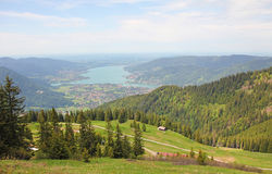 Wallberg lookout point to bavarian landscape Stock Images