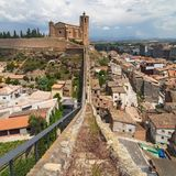 Walled bilaga av Balaguer Arkivfoto