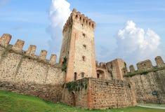 Walled castle of Este stock images