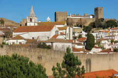 Walled citadel and castle. Obidos. Portugal Royalty Free Stock Images