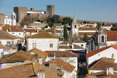 Walled citadel and castle. Obidos. Portugal Royalty Free Stock Photography