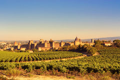 The walled city of Carcassonne, France Stock Image