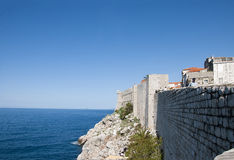 The Walled City of Dubrovnic in Croatia Europe. Dubrovnik is nicknamed `Pearl of the Adriatic. Dubrovnik is one of the most beautiful towns in the Mediterranean Royalty Free Stock Photo