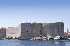 The Walled City of Dubrovnic in Croatia Europe It is one of the most delightful tourist resorts of the Mediterranean. Royalty Free Stock Photo