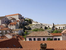 The Walled City of Dubrovnic in Croatia Europe It is one of the most delightful tourist resorts of the Mediterranean. Dubrovnik is Royalty Free Stock Image