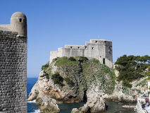 The Walled City of Dubrovnic in Croatia Europe It is one of the most delightful tourist resorts of the Mediterranean. Dubrovnik is Stock Photo