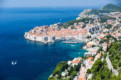 The walled city in Dubrovnik, Croatia Royalty Free Stock Images