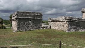 walled city of the Mayan culture in Mexico royalty free stock image