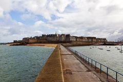 Walled city of Saint-Malo, Brittany Stock Photos