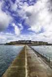 Walled city of Saint-Malo Stock Images