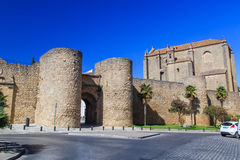 Walled entry to city Royalty Free Stock Photo