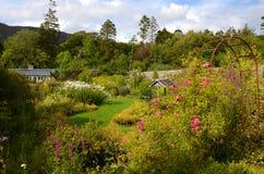 Walled garden, Applecross. The pretty walled garden at Applecross, Scotland Stock Image