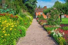 Free Walled Garden, Baddesley Clinton House, Warwickshire, England. Stock Photo - 154682500