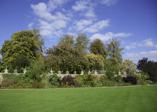 Walled Garden. Herbaceous border in a traditional English walled garden Royalty Free Stock Photos