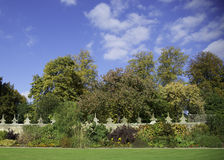 Walled Garden. Herbaceous border in a traditional English walled garden Royalty Free Stock Photo