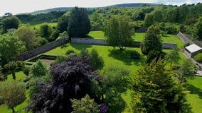 Walled Garden in Ireland. Walled Garden at Glenarm County Antrim in Northern  Ireland royalty free stock photo